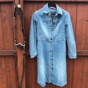 Newport News Long Jean Jacket Size 8
